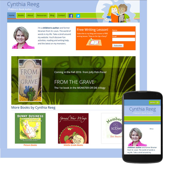 book-author-mobile-website